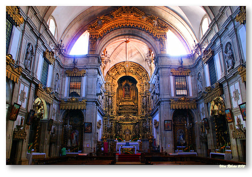 Interior da igreja do mosteiro de Arouca #2 by VRfoto