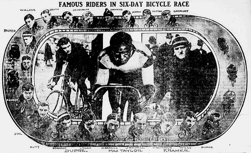 Major Taylor & Six Day Race illustration