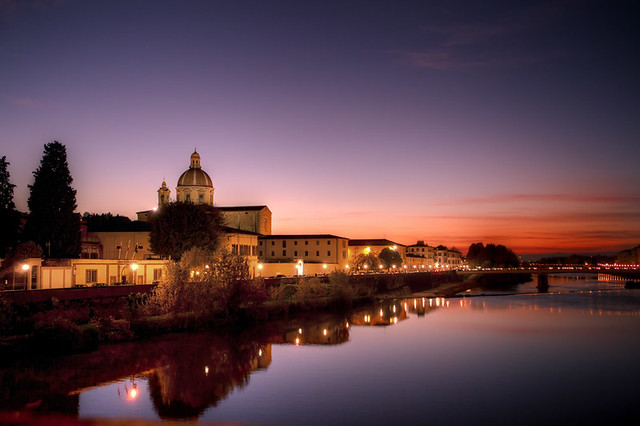 arno all'imbrunire