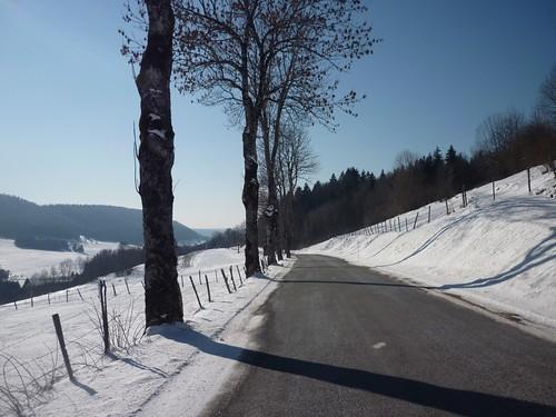 Sur la route de Pontarlier