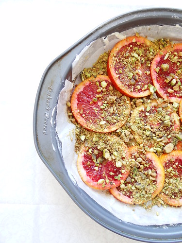 blood orange pistachio polenta cake