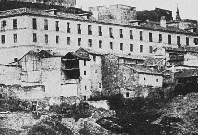 Mesón del Sevillano en 1852. Detalle de una fotografía de Edward King Tenison