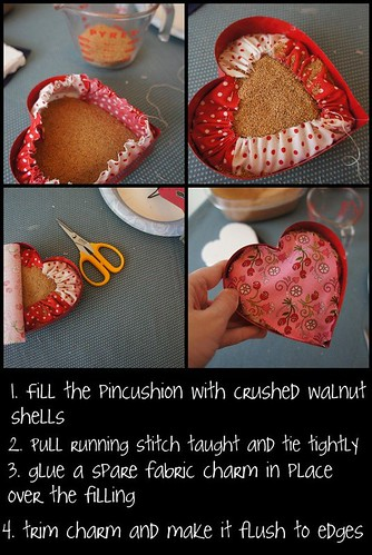 filling the pincushion