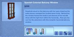 Spanish Colonial Balcony Window