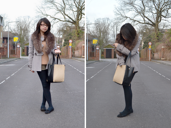 daisybutter - UK Style Blog: what i wore, romwe, warehouse, forever 21, jumper and shorts, ootd
