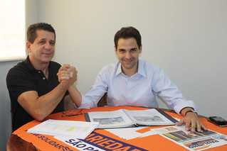 David Martins, presidente estadual, recebe Pery Cartola, vereador em São Bernardo e pré-candidato a deputado federal