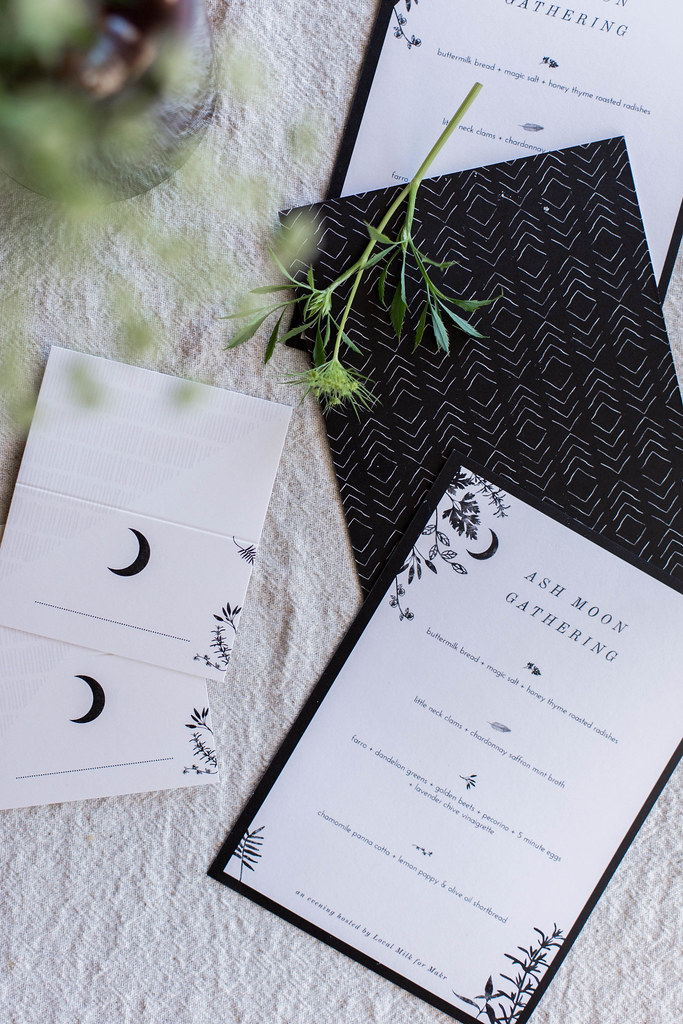 local milk x makr: d.i.y. menus & place cards