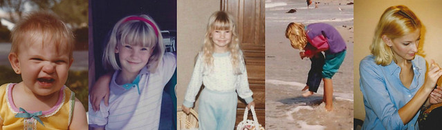 kate wirth_blond hair through the years_childhood collage