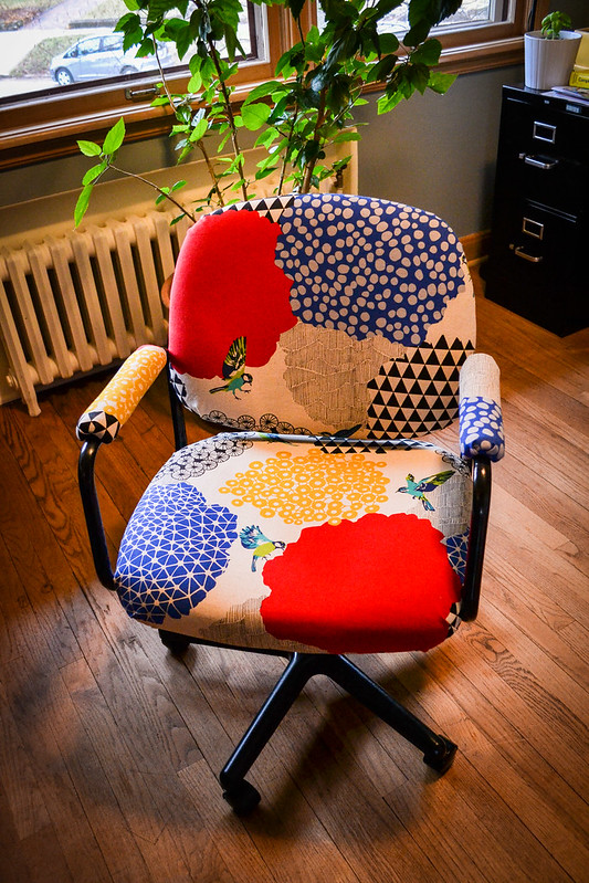 reupholster office chairs. Total Upgrade Reupholstered Office Chair Things I Made Today Reupholster Chairs