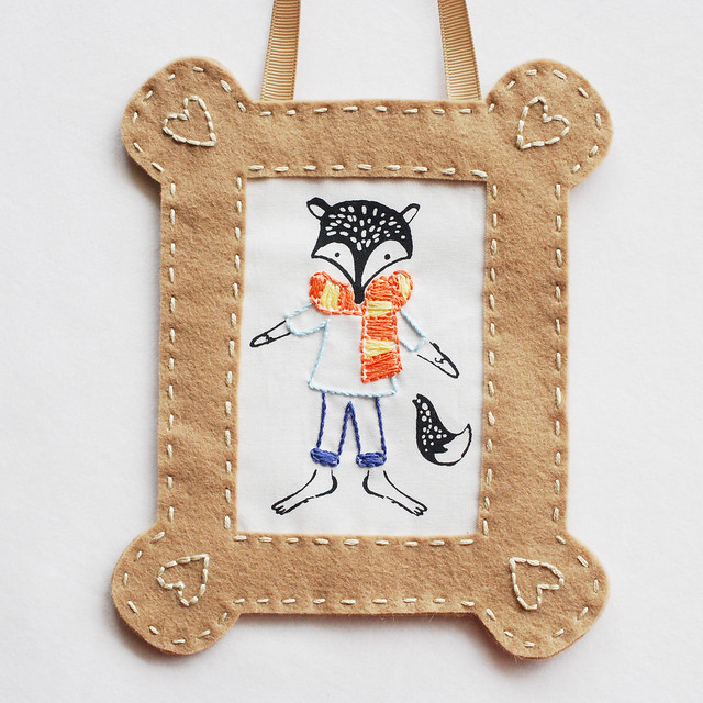 Embroidered Portrait Frame