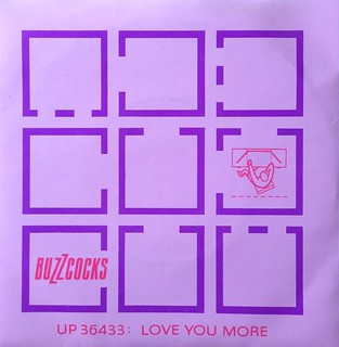"The Buzzcocks - Love You More / Noise Annoys 7"" Single 45 rpm Vinyl Record"