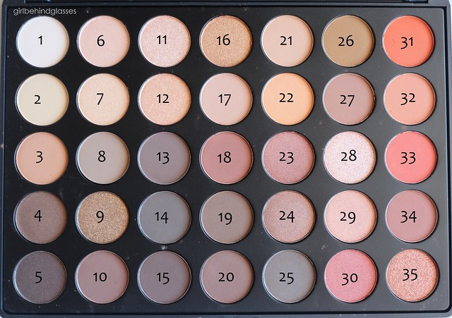 Morphe 35O palette numbered