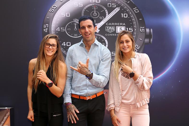 Gisela Pulido, Josef Ajram y Luc+¡a Marti+¦o en la presentaci+¦n del TAG Heuer Connected