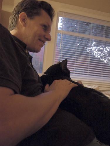 Daniel and cat