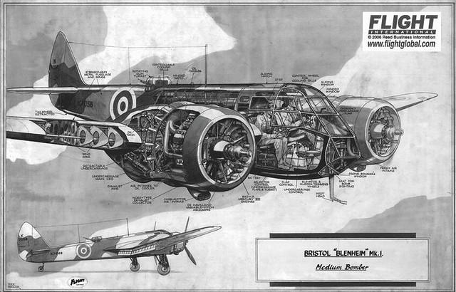 Bristol 142M Blenheim cutaway