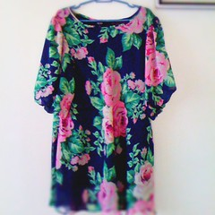 Thrifting isn't over without floral dress.
