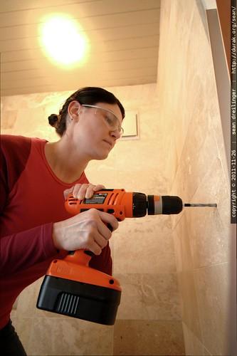 rachel drilling the wall    MG 2853
