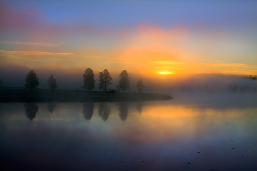 Misty Reflections at Yellowstone