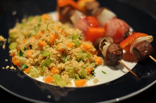 Grillspyd med couscous