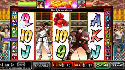 Street Fighter bonus game