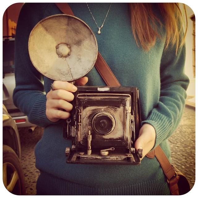 Vintage camera money box