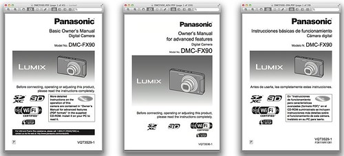 Panasonic FX90 Manual -- Basic, Advanced and Spanish Versions