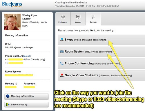 Click on Skype or H323 Videoconferencing
