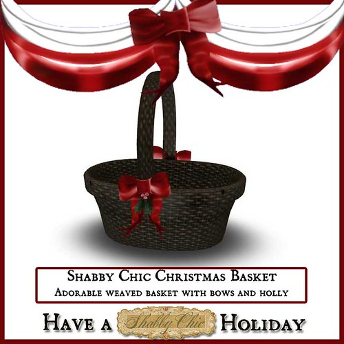Shabby Chic Christmas Basket by Shabby Chics