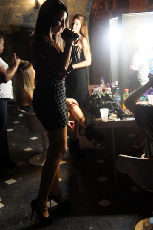 En el backstage