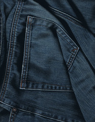 leather jacket(0.0), leather(0.0), azure(0.0), jacket(0.0), zipper(0.0), denim(1.0), jeans(1.0), textile(1.0), clothing(1.0), outerwear(1.0), pocket(1.0),