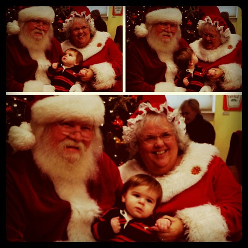 We visited Santa and Mrs. Claus at the Hopewell Museum today.