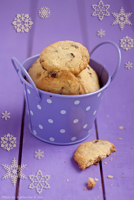 Cranberry, White Chocolate & Oat Biscuits 1