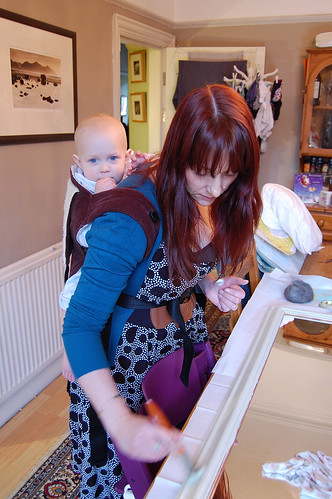You can do some diy in a dress, oh and babywear too!
