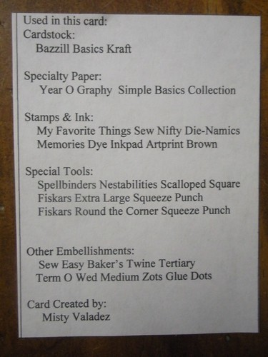 Sew Special List