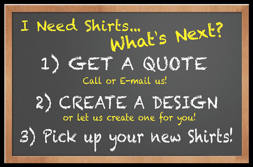 Ordering Custom T-shirts is easy at Carolina Screen Printers