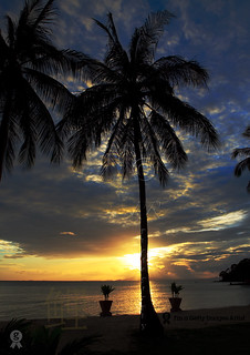 Sunset at Ko Phi Phi Island, Thailand.
