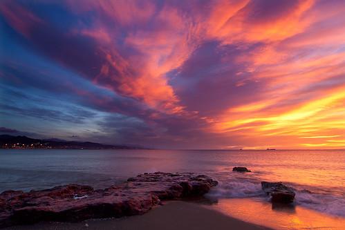 sea sky clouds sunrise mar rocks amanecer cielo nubes misericordia malaga rocas 6091 quinoal amanecerenmalaga
