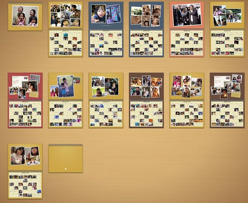 iPhoto カレンダー