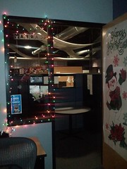 Christmas at work - office decorated
