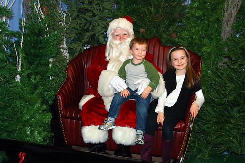 Visiting Santa 2011