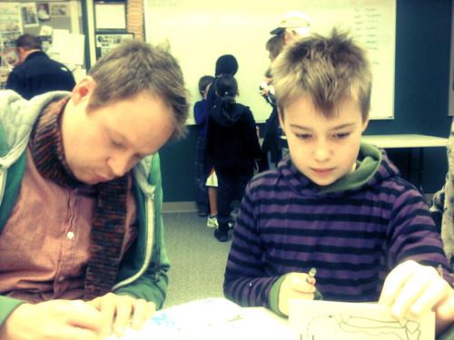 Ralph & Phoenix, Intently Drawing