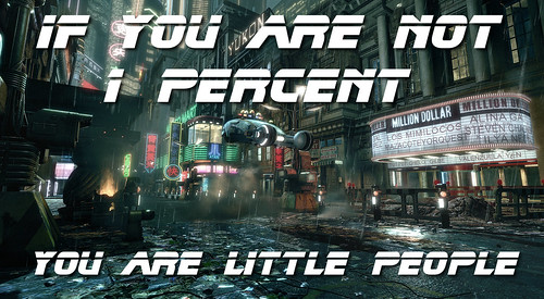 If you are not 1 percent, you are little people by Teacher Dude's BBQ
