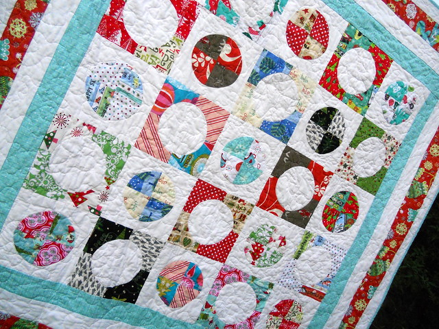 Christmas quilt closeup