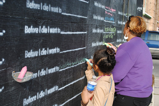 Before I Die, street art by Candy Chang