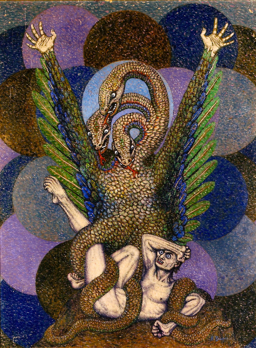 Boleslaw Biegas - The Vampire In The Form Of The Serpent, 1916 - 1917