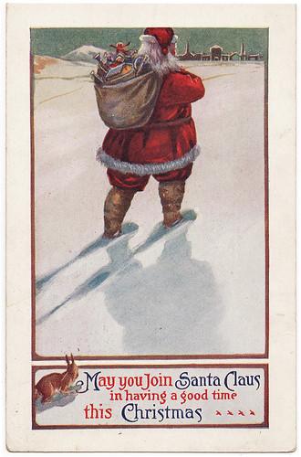 santa postcard from 1914