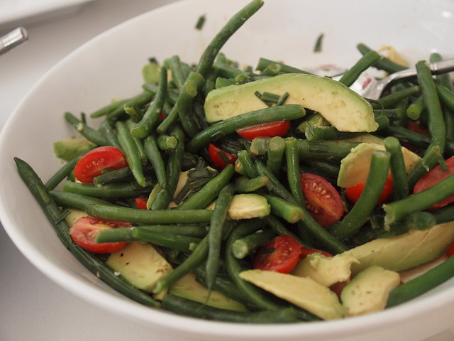 green bean salad with cranberry dressing