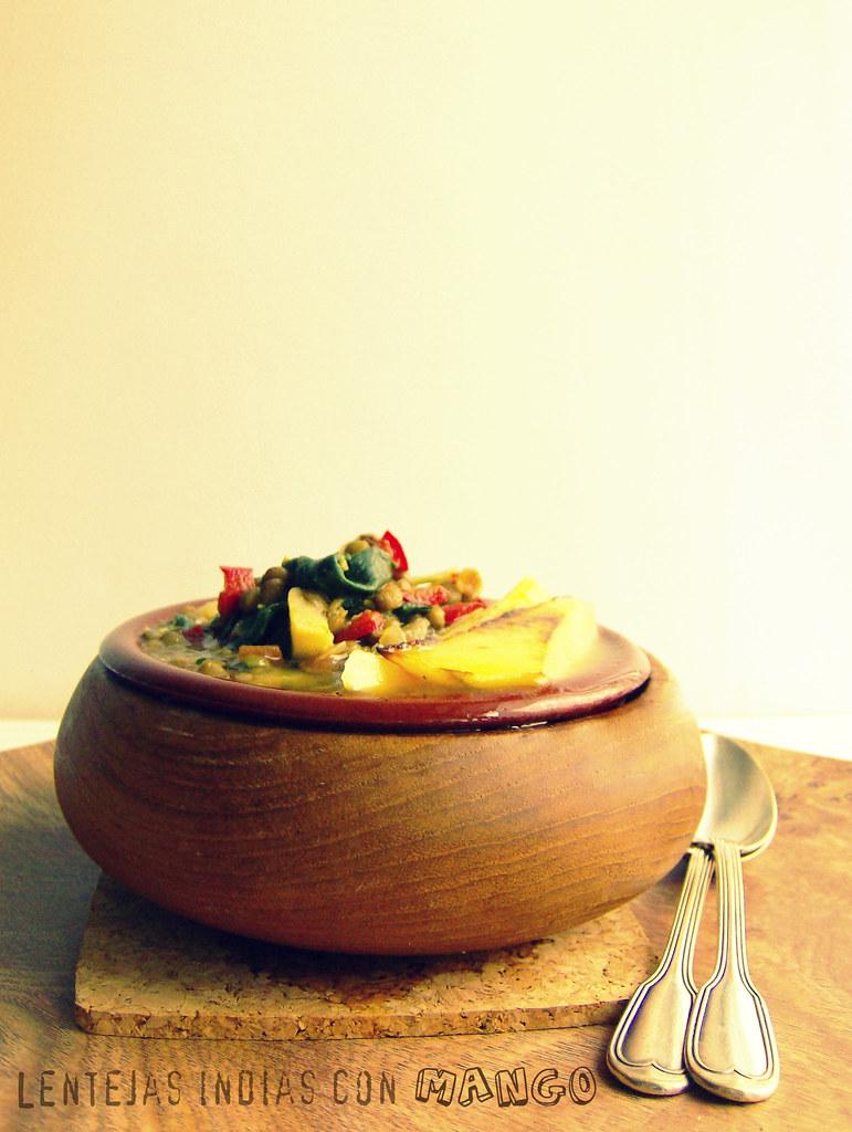 Lentejas indias con mango