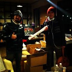 いつも御世話になっている二戸の同志! 細川さん経由で二戸のミカドとハウスオブピクニックにもポスターとフライヤーが旅立ちました!#ajs2012