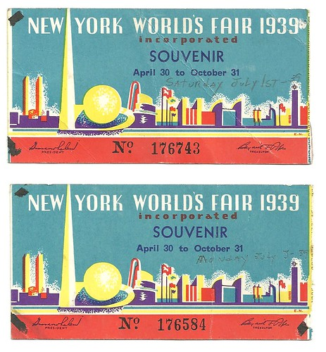 July 1939 New York World's Fair Tickets